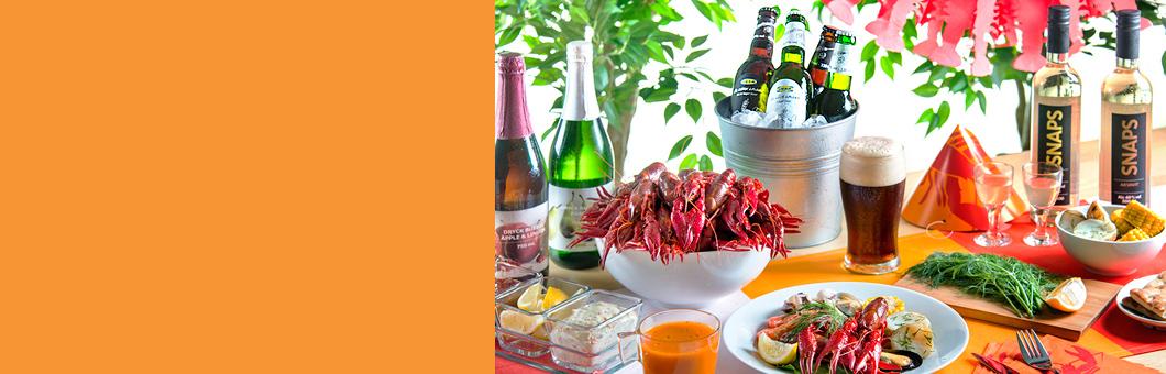 IKEAでザリガニウィーク。真っ赤にゆであがったザリガニやムール貝等がセットになったザリガニプレートが500円で販売中。200円OFFクーポンも配布予定。7/30~8/9。