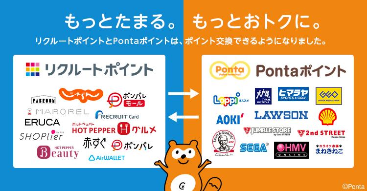 リクルートポイントをPontaポイントに交換する方法。