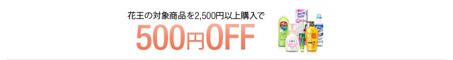 アマゾンで花王の洗剤など2500円以上買うと500円OFFキャンペーンを開催中。~2/23。