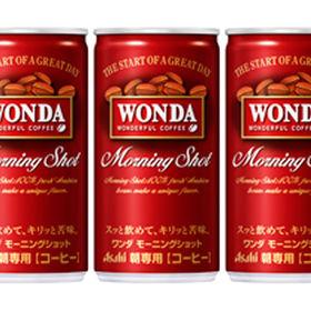 サンプル百貨店でアサヒのワンダ モーニングショット 缶185g×90本が3510円。1本39円。