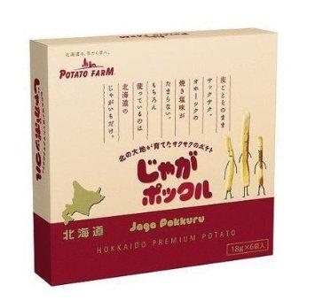 Amazonでじゃがポックル(薯條三兄弟) 6袋入り / お土産袋付き×6個セットが3300円。