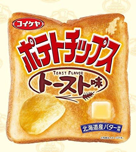 アマゾンで「湖池屋 ポテトチップス トースト味 50g×12袋」が780円、1個65円。