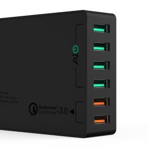 アマゾンでAukey 6ポート 66W USB急速充電器 ACアダプタ PA-T11 QC3.0対応が3999円⇒3199円でタイムセール予定。