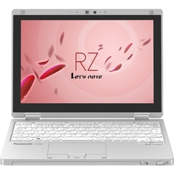 NTT-Xストアで「Let's note RZ4 (CoreM-5Y71 vPro/SSD128G/W7P32DG/10.1WUXGA/シルバー) CF-RZ4DDACS」が139980円。重さ745gのアクティブモバイルノートPC。
