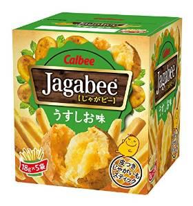 アマゾンタイムセールでカルビー Jagabee(ジャガビー) うすしお味カップ 80g×12個がタイムセール。バターしょうゆ味もあり。