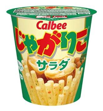 アマゾンで「カルビー じゃがりこ サラダ 60g × 12個」が853円、1個71円。