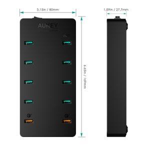 アマゾンタイムセールでAUKEY スマホUSB充電器 10台同時急速充電可能 Quick Charge 3.0対応 PA-T8が4299円⇒1999円となる割引クーポンコードを配信中。