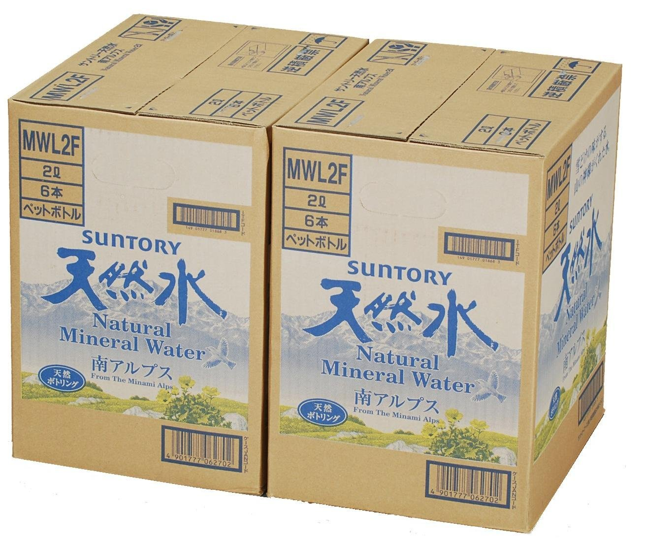 アマゾンでサントリー 天然水(南アルプス) (2L×12本)が1091円、1本91円。