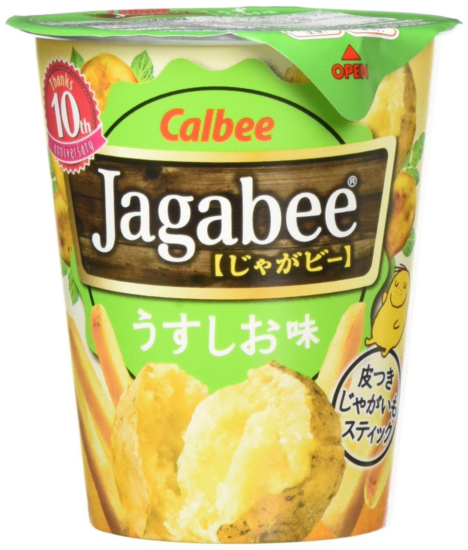 アマゾンアウトレットでカルビー Jagabee(ジャガビー) うすしお味カップ 40g×12個が1150円。1個96円。