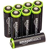 アマゾン特選タイムセールでAmazonベーシックの単三充電池・高容量版が本日限定半額セールで4個549円、8個804円。