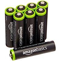 アマゾン特選タイムセールでAmazonベーシックの単四充電池・高容量版が本日限定半額セールで4個499円、8個768円。