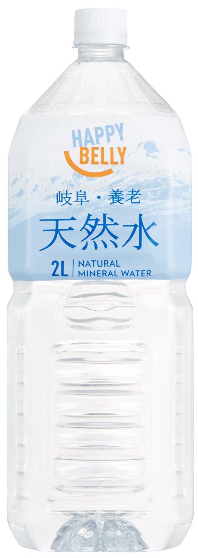アマゾンプライベートブランドのHappy Belly 岐阜・養老 天然水 (2L×6本) ×2箱が939円、1本78円。プライム会員専用。