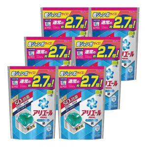 アマゾンでアリエール 洗剤 パワージェルボール 詰替用 超お得サイズ 940g (48個入り)×6個が5300円⇒2650円。