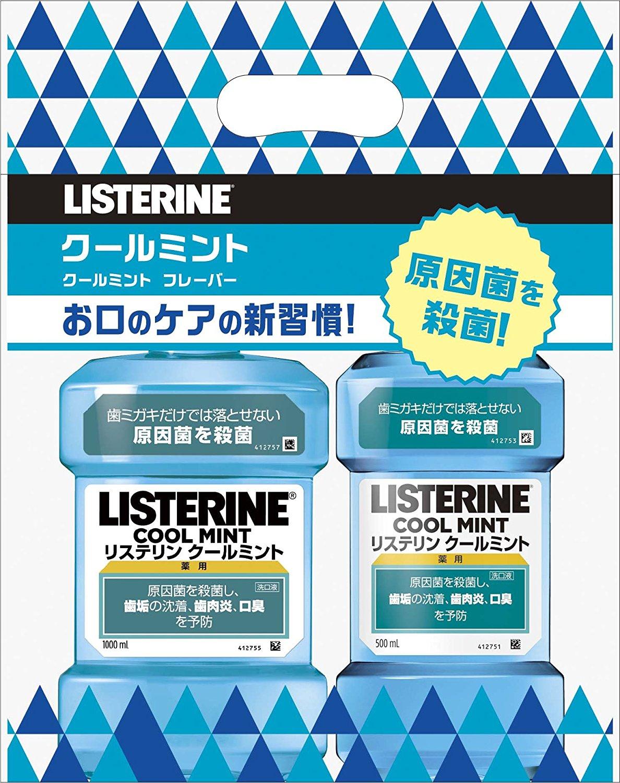 アマゾンタイムセールで薬用 LISTERINE リステリン クールミントとナチュラルケア  1L+500ml が951円⇒760円。