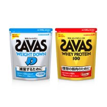 アマゾンでSAVAS(ザバス)のホエイ/ソイプロテイン、ウェイトダウンが1050g2814円でセール中。