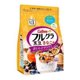 サンプル百貨店で「カルビー フルグラ黒豆きなこ味 700g×6袋」が2190円、1袋399円。楽天、LOHACO、Yahooショッピングで最安値。