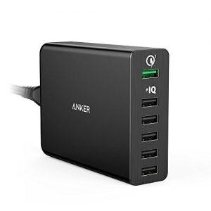 アマゾンで【Quick Charge 3.0対応】Anker PowerPort+ 6 (60W 6ポートUSB急速充電器) A2063511が3199円。