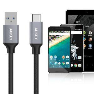 アマゾンでAUKEY USB-C USB 3.0 ケーブル 5本セット CB-CMD2がセール中。