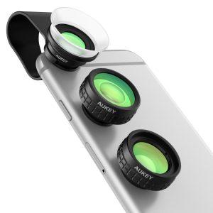 【本日限定】AUKEY スマホ カメラ レンズキット 4in1 (魚眼レンズ、12×2 ダブルマクロレンズ、110°単独広角レンズ) クリップ式 PL-A4が2999円⇒1499円<