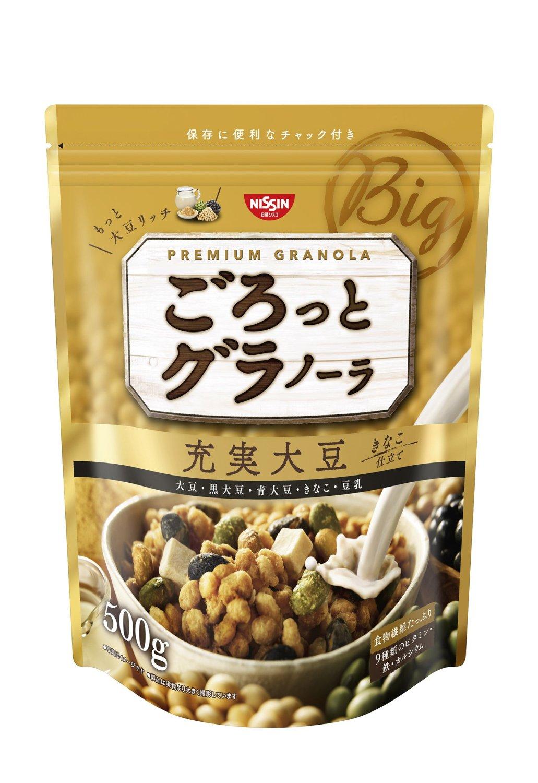 アマゾンで日清シスコ ごろっとグラノーラ充実大豆 500g×6袋が2765円。1袋461円。