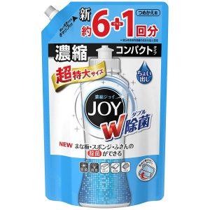アマゾンで【大容量】 除菌ジョイ コンパクト 食器用洗剤 超特大 1065mlが313円。