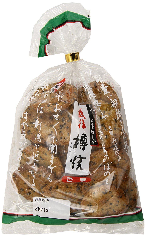 【誤表記かも】三幸製菓 越後樽焼ごま 111g×12個が161円、送料480円。1袋53円。通常135円。