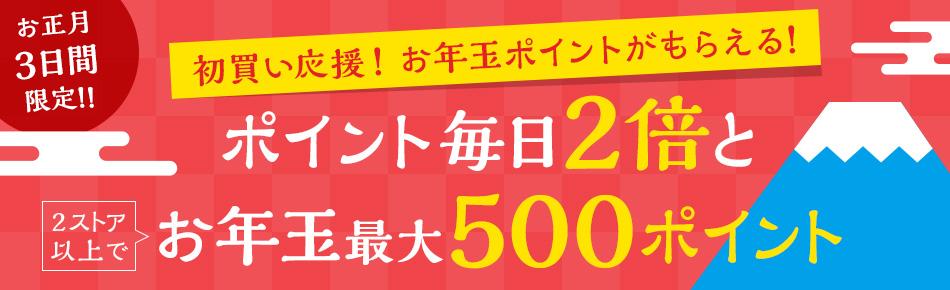Yahoo!ショッピングでポイント毎日2倍とお年玉最大500ポイントキャンペーン。年が明けていきなりしょぼくなったぞ。~1/3。
