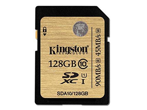 アマゾンでキングストン Kingston SDカード 128GB Class10 UHS-I 対応 SDXCが2956円。価格コムでぶっちぎりのコスパ。
