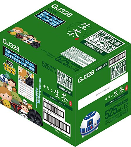 アマゾンでキリン 生茶 525ml×12本(スター・ウォーズツムツム 2017年カレンダー付き)が757円。1本63円。<br>