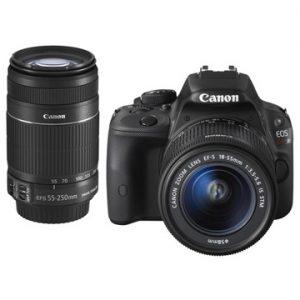ひかりTVショッピングでCANON デジタル一眼レフカメラ EOS Kiss X7 ダブルズームキットが46800円で価格コムNo1、そこからポイント41杯付与で実質27612円。