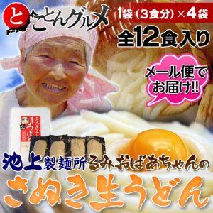 Wowma!でauユーザーで新規会員登録者限定、東芝microSDHC16GBが400円、池上製麺所のるみおばあちゃんのうどん100円。
