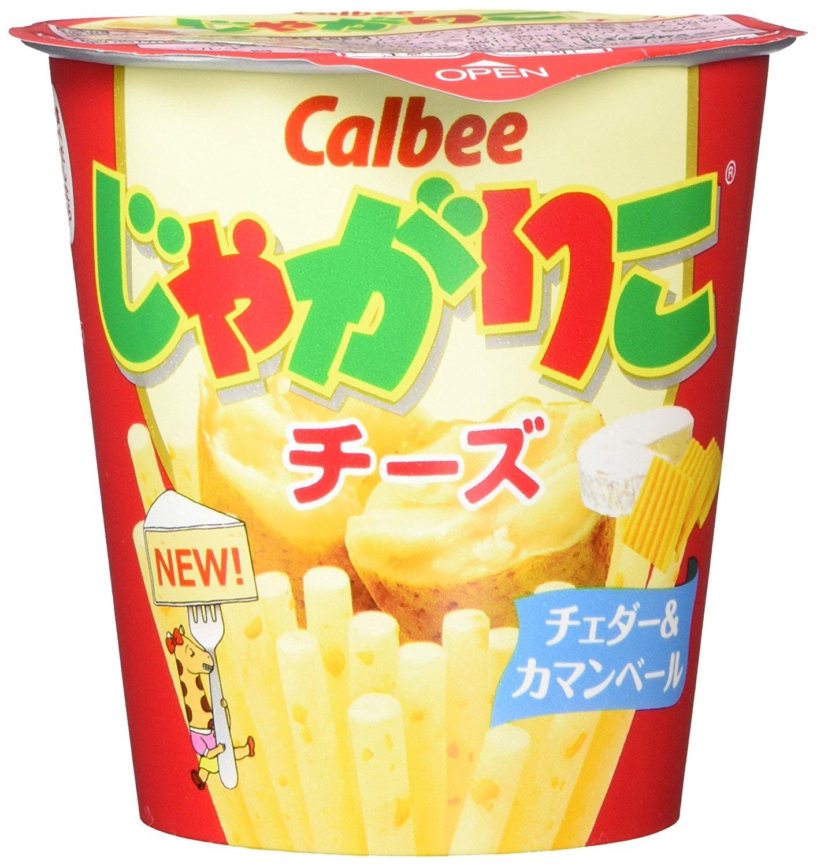 アマゾンタイムセールで「カルビー じゃがりこ チーズ 58g × 12個」が1453円⇒1162円、1個97円。