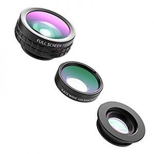 アマゾンタイムセールでAUKEY スマホカメラレンズキット 3in1 (180°魚眼、10×マクロ、110°広角レンズ) クリップ式 PL-A6がタイムセール予定。