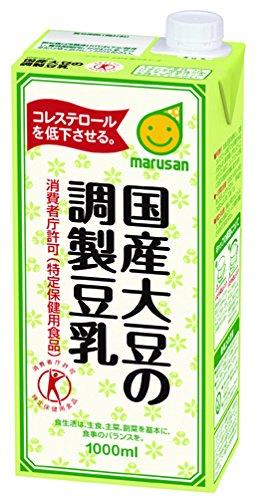 アマゾンでトクホのマルサン 国産大豆の調製豆乳 1L×6本が1本212円。トクホでもこれは高い。