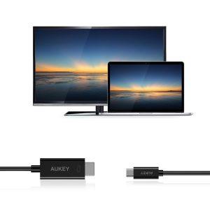 アマゾンでAUKEY USB-C to HDMI ケーブル(6ft/1.8m) , 4K Ultra-HD 対応 CB-C54が2999円⇒1799円。~4/16。