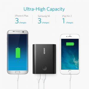 アマゾンタイムセールでAnker PowerCore+ 13400+モバイルバッテリーが3999円⇒3199円。クイックチャージは集合時間ギリギリに家を出る人に最適。