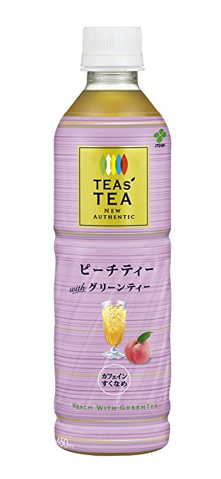 アマゾンで伊藤園 TEAS'TEA NEW AUTHENTIC ピーチティー with グリーンティー 450ml×24本が3,629円⇒1,480円、1本62円。