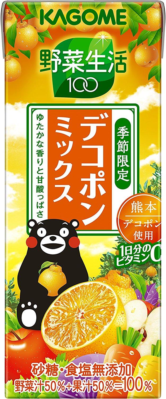 アマゾンでカゴメ 野菜生活100 デコポンミックス 200ml×24本が1798円⇒1470円、1本61円。