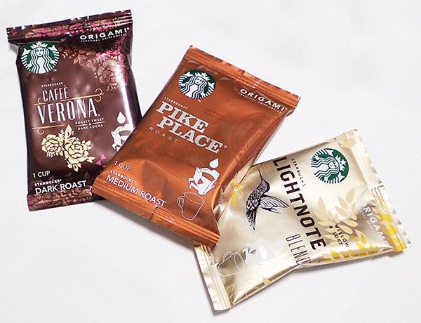 【写真レビュー】アマゾンでスターバックス オリガミR パーソナルドリップR コーヒー アソートセットが届いたぞ。特に安くない。