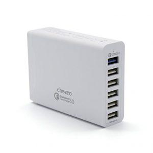【本日発売】アマゾンでcheero 6ポート USB-AC アダプタ 急速充電器 (QC3.0対応)  CHE-316-WHが3180円⇒2680円。