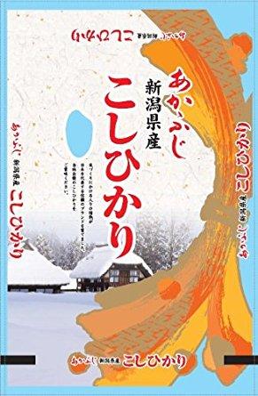 アマゾンタイムセールで【精米】新潟県産 白米 こしひかり 5kg 28年産が1990円⇒1791円。