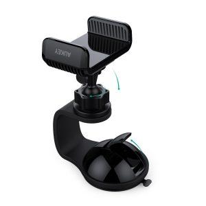 アマゾンでAUKEY 車載ホルダー スマホスタンド ゲル吸盤式 360度回転可能 HD-C30が半額セール。