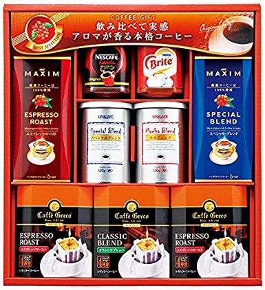 アマゾンでネスカフェエクセラ&ユニカフェコーヒーギフトが3581円⇒1914円にてセール中。65%OFF。