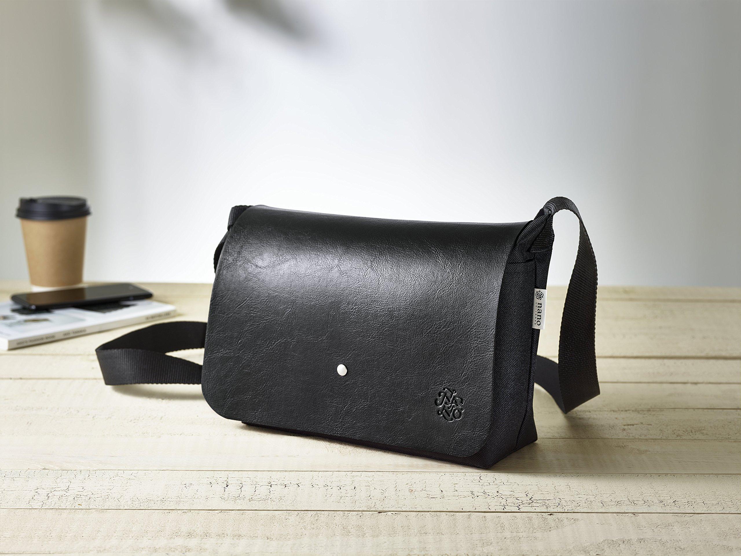 アマゾンで雑誌のMen's JOKER6月号を買うと、ナノユニバースのレザー風ショルダーバッグがおまけで付いてくる。5/10~。