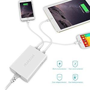 アマゾンでdodocool QC3.0対応USB充電器 60W 5ポートが2499円⇒1374円となる割引クーポンを配信中。