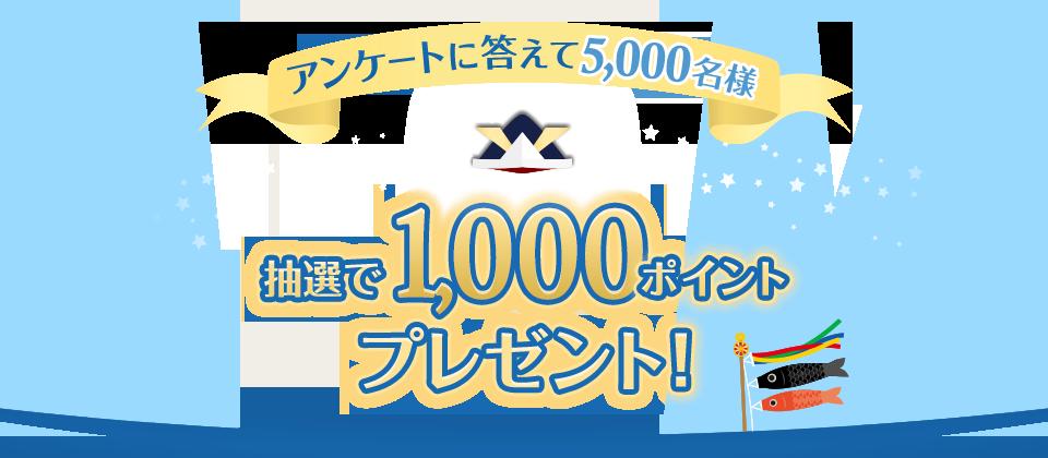dポイントクラブアンケートの「dポイントクラブ基礎アンケート」に回答すると、抽選で500名に1000ポイントが当たる。~9/30。