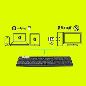 アマゾンでマルチデバイスを瞬時に切替可能な、LOGICOOL ロジクール キーボード K370sが4050円⇒2370円。