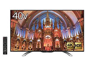 アマゾン特選タイムセールでシャープ 40V型 AQUOS 4K 液晶テレビ LC-40U30が7万円⇒64800円。
