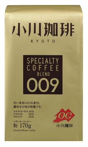 アマゾンで小川珈琲 スペシャルティコーヒー009 粉 170gが851円⇒765円。