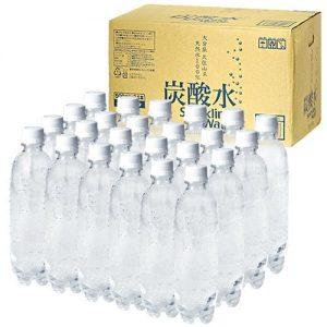 アマゾンで九州産 強炭酸水ペットボトル500ml×24本が1498円、1本62円。